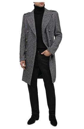 Мужской пальто BALMAIN серого цвета, арт. UH18090/W066 | Фото 2