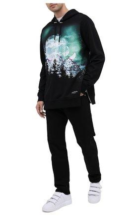 Мужской хлопковое худи BALMAIN черного цвета, арт. UH13415/I305 | Фото 2