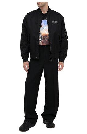 Мужская хлопковая футболка BALMAIN черного цвета, арт. UH01601/I374   Фото 2