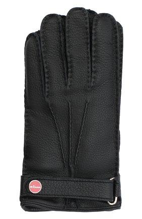 Мужские кожаные перчатки KITON черного цвета, арт. UGU023X02T19 | Фото 1
