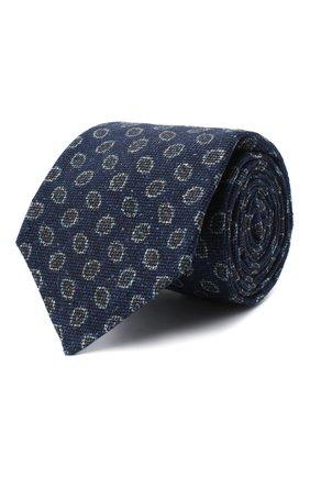 Мужской галстук из шерсти и шелка KITON темно-синего цвета, арт. UCRVKLC05G59 | Фото 1