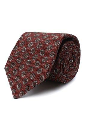 Мужской галстук из шерсти и шелка KITON коричневого цвета, арт. UCRVKLC05G59 | Фото 1