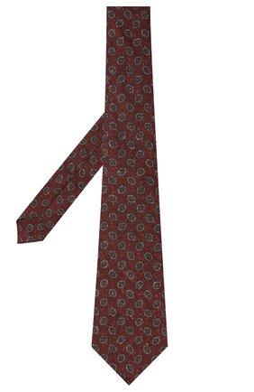 Мужской галстук из шерсти и шелка KITON коричневого цвета, арт. UCRVKLC05G59 | Фото 2