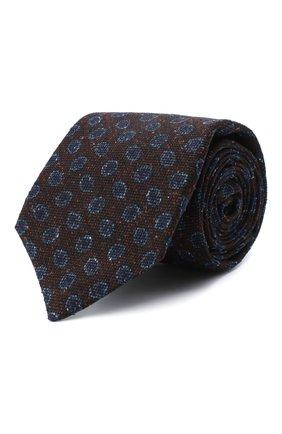 Мужской галстук из шерсти и шелка KITON темно-коричневого цвета, арт. UCRVKLC05G59 | Фото 1