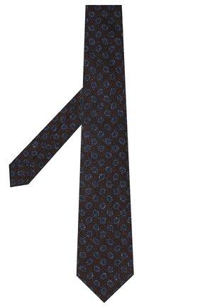 Мужской галстук из шерсти и шелка KITON темно-коричневого цвета, арт. UCRVKLC05G59 | Фото 2