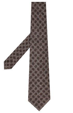 Мужской галстук из шерсти и шелка KITON светло-коричневого цвета, арт. UCRVKLC05G59 | Фото 2