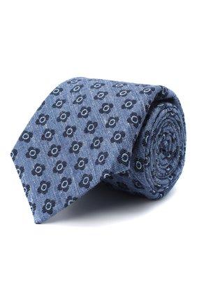 Мужской галстук из шерсти и шелка KITON голубого цвета, арт. UCRVKLC05G53   Фото 1