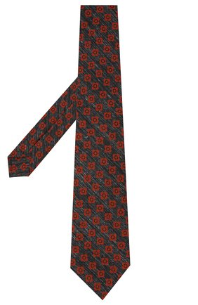 Мужской галстук из шерсти и шелка KITON серого цвета, арт. UCRVKLC05G53 | Фото 2