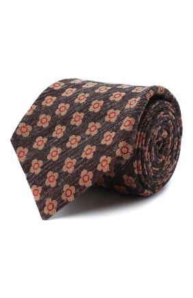 Мужской галстук из шерсти и шелка KITON красного цвета, арт. UCRVKLC05G53 | Фото 1