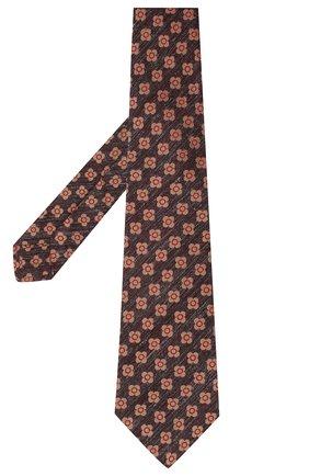 Мужской галстук из шерсти и шелка KITON красного цвета, арт. UCRVKLC05G53 | Фото 2