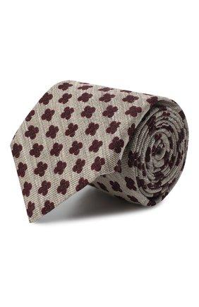 Мужской галстук из шерсти и шелка KITON светло-бежевого цвета, арт. UCRVKLC05G53 | Фото 1