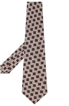 Мужской галстук из шерсти и шелка KITON серого цвета, арт. UCRVKLC05G53   Фото 2