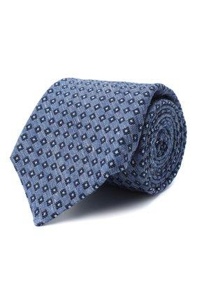 Мужской галстук из шерсти и шелка KITON голубого цвета, арт. UCRVKLC05G50   Фото 1