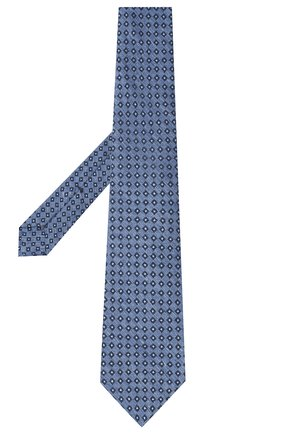 Мужской галстук из шерсти и шелка KITON голубого цвета, арт. UCRVKLC05G50   Фото 2