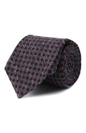 Мужской галстук из шерсти и шелка KITON темно-серого цвета, арт. UCRVKLC05G50   Фото 1