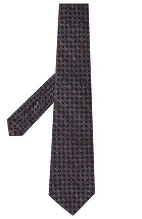 Мужской галстук из шерсти и шелка KITON темно-серого цвета, арт. UCRVKLC05G50   Фото 2