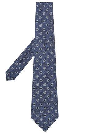 Мужской шелковый галстук KITON синего цвета, арт. UCRVKLC05G39 | Фото 2