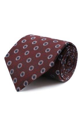 Мужской шелковый галстук KITON красного цвета, арт. UCRVKLC05G39 | Фото 1