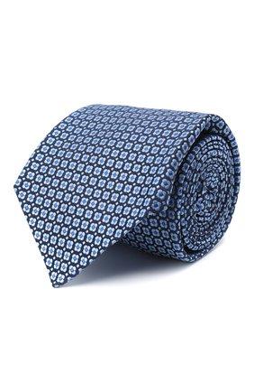 Мужской шелковый галстук KITON голубого цвета, арт. UCRVKLC05G30 | Фото 1