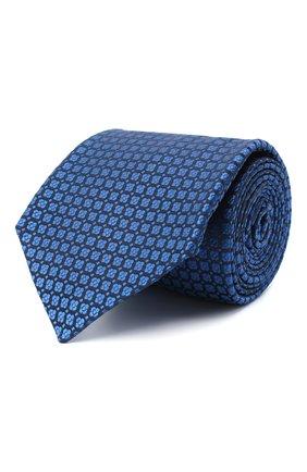 Мужской шелковый галстук KITON синего цвета, арт. UCRVKLC05G30 | Фото 1