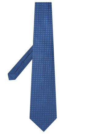 Мужской шелковый галстук KITON синего цвета, арт. UCRVKLC05G30 | Фото 2