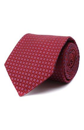 Мужской шелковый галстук KITON красного цвета, арт. UCRVKLC05G30 | Фото 1