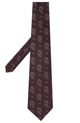 Мужской галстук из шелка и хлопка KITON коричневого цвета, арт. UCRVKLC05G27 | Фото 2