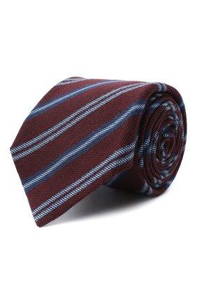 Мужской галстук из шерсти и шелка KITON бордового цвета, арт. UCRVKLC05G10 | Фото 1