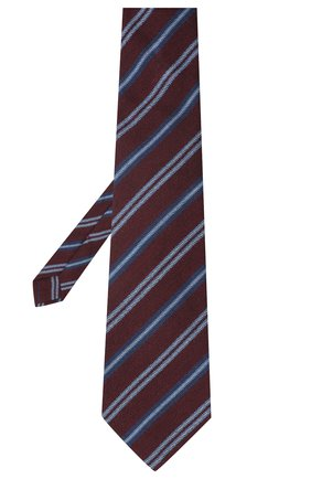 Мужской галстук из шерсти и шелка KITON бордового цвета, арт. UCRVKLC05G10 | Фото 2