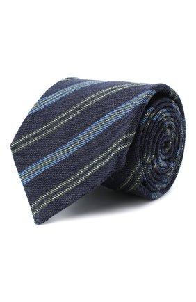 Мужской галстук из шерсти и шелка KITON синего цвета, арт. UCRVKLC05G10 | Фото 1