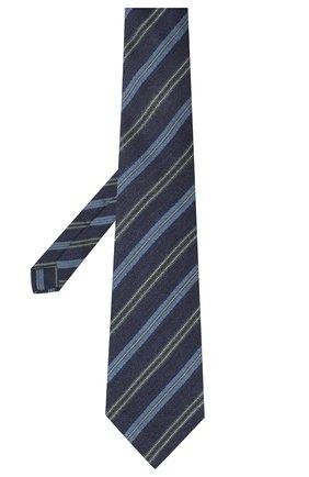 Мужской галстук из шерсти и шелка KITON синего цвета, арт. UCRVKLC05G10 | Фото 2