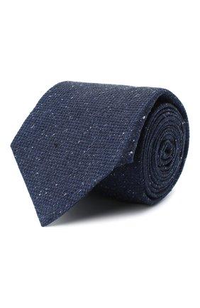 Мужской шелковый галстук KITON темно-синего цвета, арт. UCRVKLC04G95 | Фото 1
