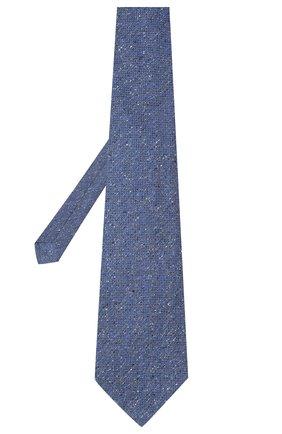 Мужской шелковый галстук KITON синего цвета, арт. UCRVKLC04G95 | Фото 2