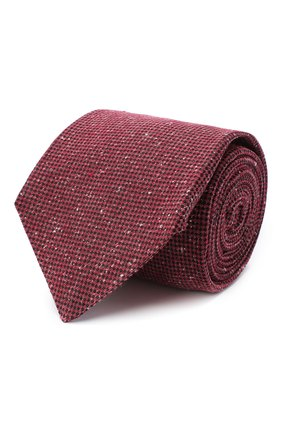 Мужской шелковый галстук KITON красного цвета, арт. UCRVKLC04G95 | Фото 1