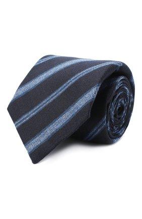 Мужской галстук из шерсти и шелка KITON темно-синего цвета, арт. UCRVKLC04G35 | Фото 1