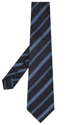 Мужской галстук из шерсти и шелка KITON темно-синего цвета, арт. UCRVKLC04G35 | Фото 2