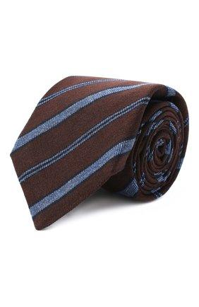 Мужской галстук из шерсти и шелка KITON коричневого цвета, арт. UCRVKLC04G35 | Фото 1