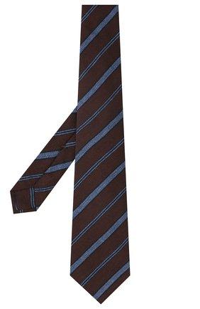 Мужской галстук из шерсти и шелка KITON коричневого цвета, арт. UCRVKLC04G35 | Фото 2