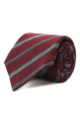 Мужской галстук из шерсти и шелка KITON красного цвета, арт. UCRVKLC04G35 | Фото 1