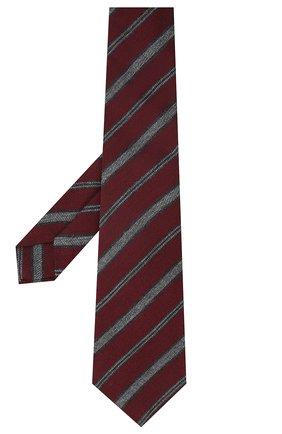 Мужской галстук из шерсти и шелка KITON красного цвета, арт. UCRVKLC04G35 | Фото 2