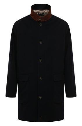 Мужской кашемировое пальто LORO PIANA темно-синего цвета, арт. FAL2192 | Фото 1