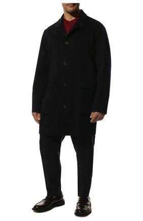 Мужской кашемировое пальто LORO PIANA темно-синего цвета, арт. FAL2192 | Фото 2