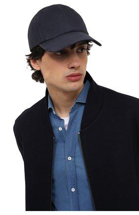 Мужской замшевая бейсболка LORO PIANA темно-синего цвета, арт. FAL3379 | Фото 2
