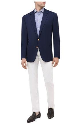 Мужской шерстяной пиджак RALPH LAUREN темно-синего цвета, арт. 798765811 | Фото 2
