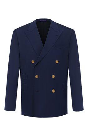 Мужской шерстяной пиджак RALPH LAUREN синего цвета, арт. 798765810 | Фото 1