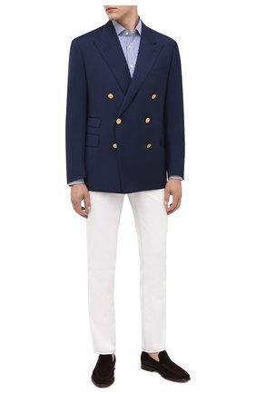 Мужской шерстяной пиджак RALPH LAUREN синего цвета, арт. 798765810   Фото 2