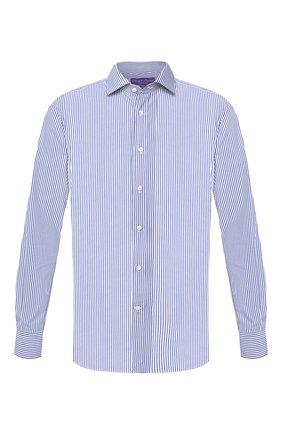 Мужская хлопковая сорочка RALPH LAUREN синего цвета, арт. 791530497 | Фото 1