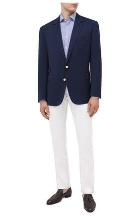 Мужская хлопковая сорочка RALPH LAUREN синего цвета, арт. 791530497 | Фото 2