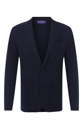 Мужской шерстяной пиджак RALPH LAUREN темно-синего цвета, арт. 790726159 | Фото 1