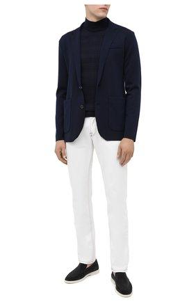 Мужской шерстяной пиджак RALPH LAUREN темно-синего цвета, арт. 790726159 | Фото 2